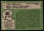 1978 Topps #357  Ted Fritsch Jr  Back Thumbnail