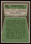 1975 Topps #514  Herb Orvis  Back Thumbnail
