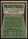1975 Topps #269  Bob Newland  Back Thumbnail