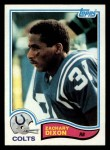 1982 Topps #14  Zachary Dixon  Front Thumbnail