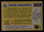 1982 Topps #22  Mark Brammer  Back Thumbnail