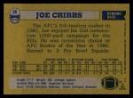 1982 Topps #26  Joe Cribbs  Back Thumbnail