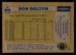 1982 Topps #58  Ron Bolton  Back Thumbnail