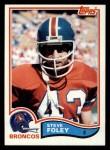 1982 Topps #78  Steve Foley  Front Thumbnail