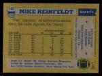 1982 Topps #102  Mike Reinfeldt  Back Thumbnail