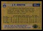 1982 Topps #123  J.T.Smith  Back Thumbnail