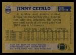 1982 Topps #128  Jimmy Cefalo  Back Thumbnail