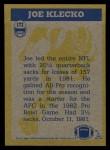1982 Topps #172   -  Joe Klecko In Action Back Thumbnail