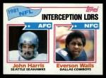 1982 Topps #261   -  John Harris / Everson Walls Interception Leaders Front Thumbnail