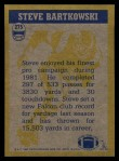 1982 Topps #275   -  Steve Bartkowski In Action Back Thumbnail