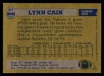 1982 Topps #277  Lynn Cain  Back Thumbnail