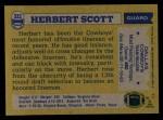 1982 Topps #322  Herb Scott  Back Thumbnail