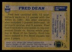1982 Topps #483  Fred Dean  Back Thumbnail