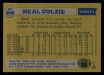 1982 Topps #497  Neal Colzie  Back Thumbnail