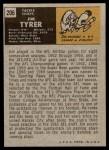 1971 Topps #206  Jim Tyrer  Back Thumbnail
