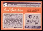 1970 Topps #172  Pat Fischer  Back Thumbnail