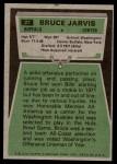 1975 Topps #27  Bruce Jarvis  Back Thumbnail