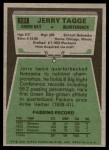 1975 Topps #131  Jerry Tagge  Back Thumbnail