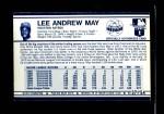 1972 Kellogg's #37  Lee May  Back Thumbnail