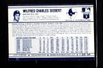 1972 Kellogg's #36  Sonny Siebert  Back Thumbnail