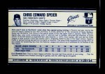 1972 Kellogg's #28  Chris Speier  Back Thumbnail