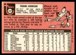 1969 Topps #227  Frank Johnson  Back Thumbnail