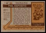 1973 Topps #120  Phil Esposito   Back Thumbnail
