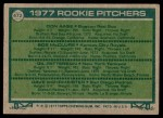 1977 Topps #472   -  Don Aase / Bob McClure / Gil Patterson / Dave Wehrmeister Rookie Pitchers   Back Thumbnail