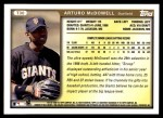 1999 Topps Traded #30 T Arturo McDowell  Back Thumbnail