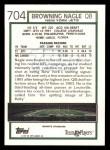 1992 Topps #704  Browning Nagle  Back Thumbnail