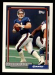 1992 Topps #750  Phil Simms  Front Thumbnail