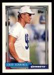 1992 Topps #714  Chad Hennings  Front Thumbnail
