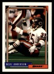 1992 Topps #153  Neal Anderson  Front Thumbnail