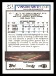 1992 Topps #323  Vinson Smith  Back Thumbnail