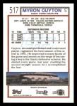 1992 Topps #517  Myron Guyton  Back Thumbnail