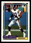 1992 Topps #552  Cris Carter  Front Thumbnail