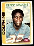 1978 Topps #493  Benny Malone  Front Thumbnail