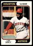 1974 Topps #500  Lee May  Front Thumbnail