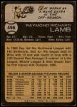 1973 Topps #496  Ray Lamb  Back Thumbnail