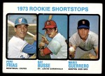 1973 Topps #607   -  Ray Busse / Pepe Frias / Mario Guerrero Rookie Shortstops Front Thumbnail