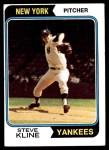 1974 Topps #324  Steve Kline  Front Thumbnail