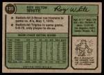 1974 Topps #135  Roy White  Back Thumbnail