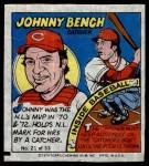 1979 Topps Comics #21  Johnny Bench  Front Thumbnail