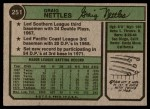 1974 Topps #251  Graig Nettles  Back Thumbnail