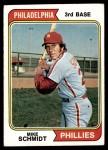 1974 Topps #283  Mike Schmidt  Front Thumbnail