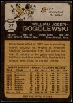 1973 Topps #27  Bill Gogolewski  Back Thumbnail
