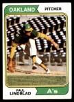 1974 Topps #369  Paul Lindblad  Front Thumbnail