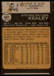 1973 Topps #581  Steve Kealey  Back Thumbnail