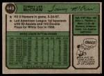 1974 Topps #449  Tom McCraw  Back Thumbnail