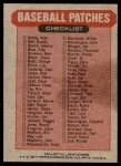 1977 Topps Cloth Stickers   NL Bottom-Right Puzzle Piece  Back Thumbnail